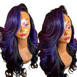 Long Deep Side Parting Colormix Loose Wave Synthetic Wig -