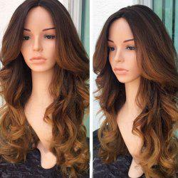 Long Middle Part Colormix Wavy Synthetic Wig -