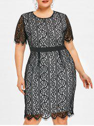 Plus Size Lace Party Bodycon Dress -