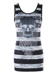 Skull and Striped Tunic Tank Top -