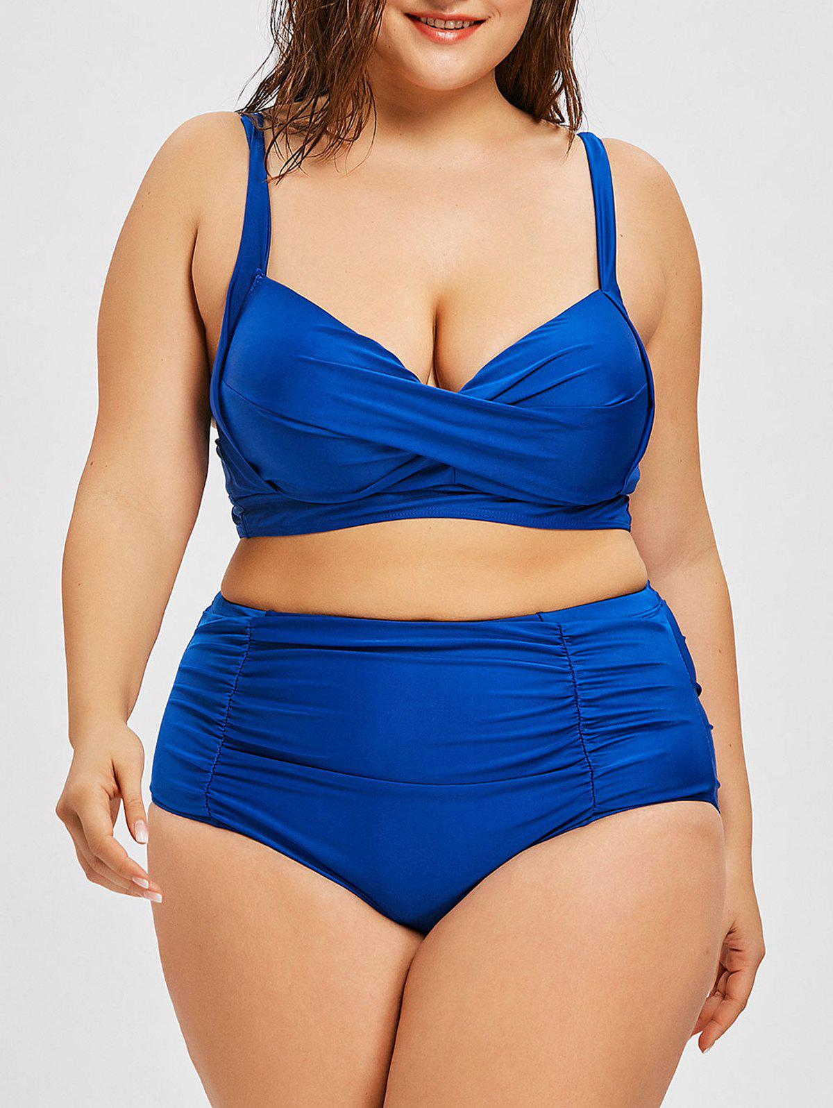 New Twist Plus Size High Rise Push Up Bikini