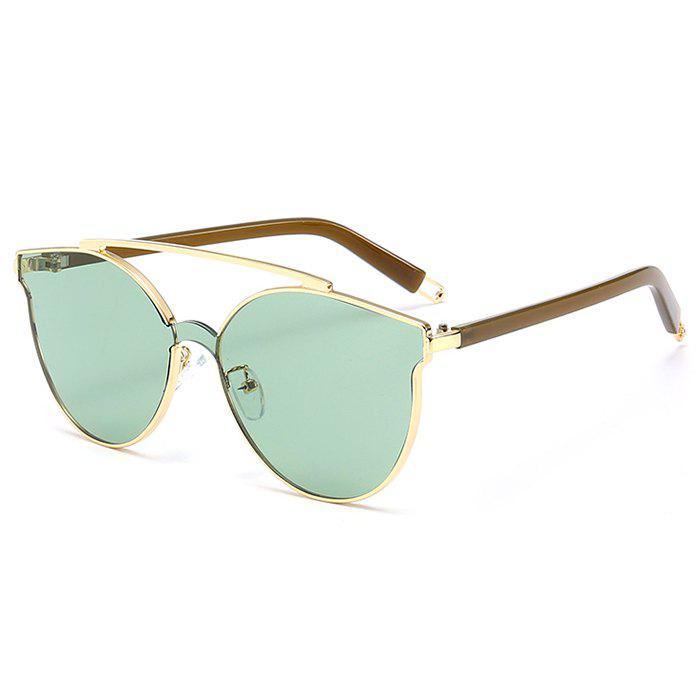 Shops Stylish Crossbar Decorated Metal Full Frame Cat Eye Sunglasses