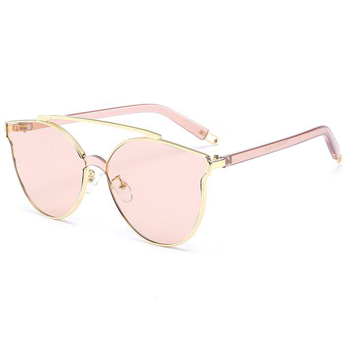 Best Stylish Crossbar Decorated Metal Full Frame Cat Eye Sunglasses