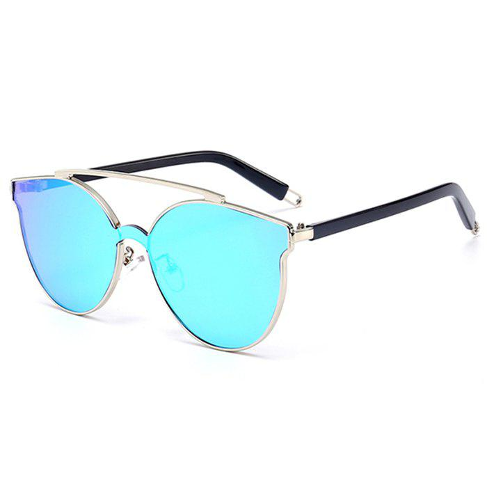 Outfits Stylish Crossbar Decorated Metal Full Frame Cat Eye Sunglasses