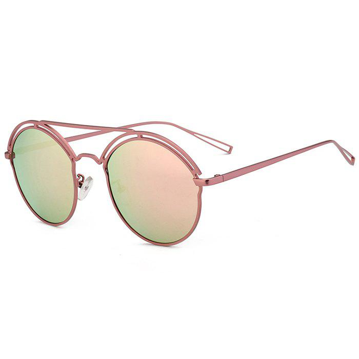 Sale Unique Hollow Out Metal Full Frame Oval Sunglasses