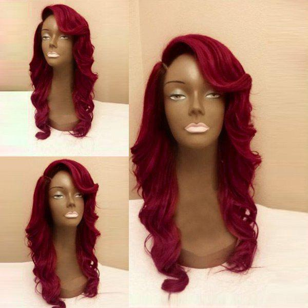 Chic Long Side Parting Body Wave Party Synthetic Wig