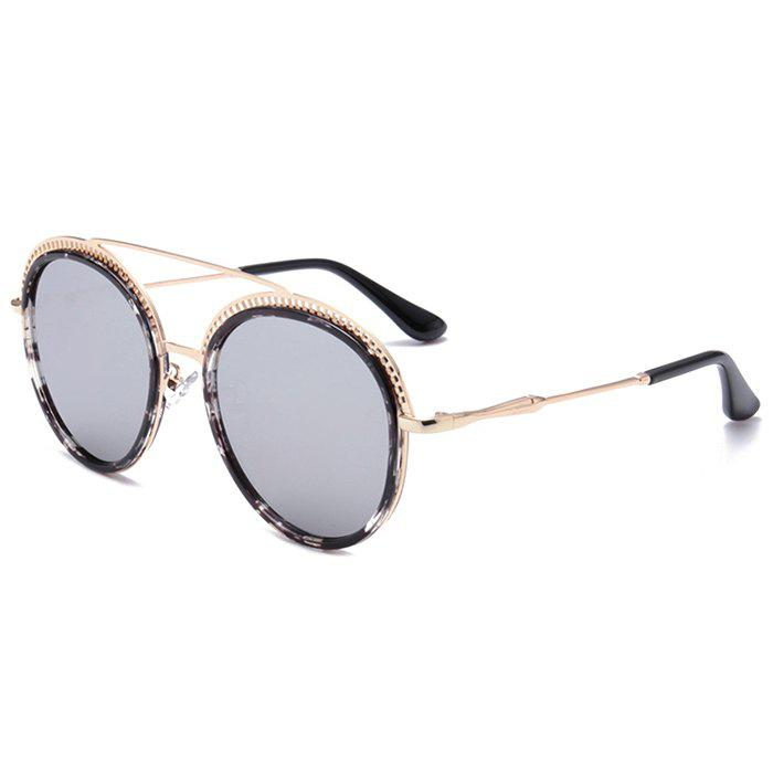 Best Unique Crossbar Hollow Out Pattern Decorated Round Sunglasses