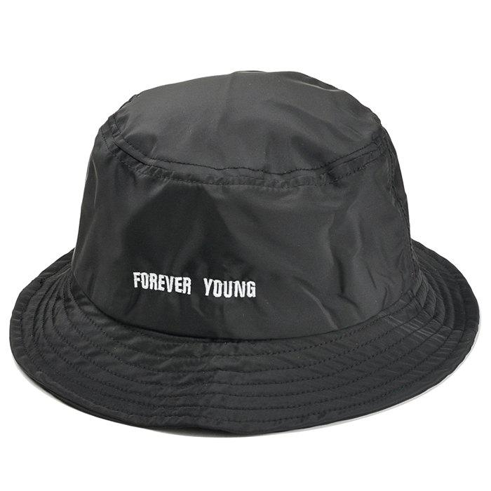 Shop Unique Forever Young Embroidery Bucket Hat