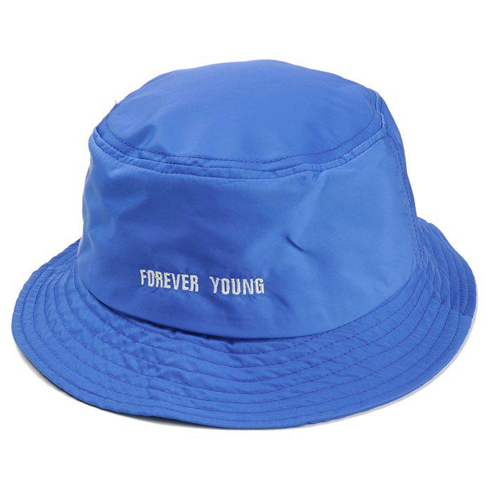 Chic Unique Forever Young Embroidery Bucket Hat