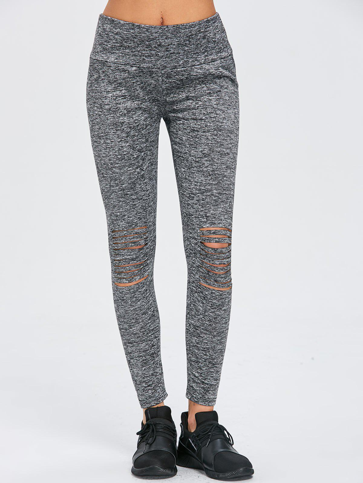 Sale Distressed Skinny Workout Leggings