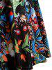 Plus Size Print Midi Flare Dress -