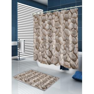 Rock Stone Print Fabric Shower Curtain -