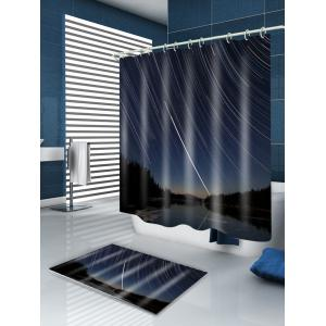 Vortex Shooting Star Print Fabric Shower Curtain -