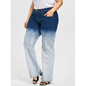 Plus Size Ombre Wide Leg Jeans -
