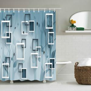 Rahmen Print Waterproof Fabric Bath Shower Curtain -