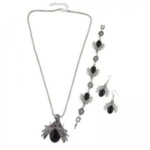 Alloy Insect Necklace Bracelet with Earring Set -