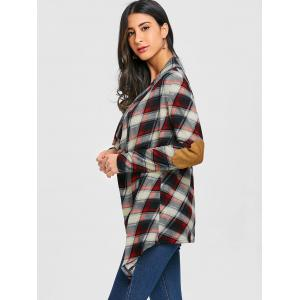 Elbow Patch Drapé Pali Cardigan -