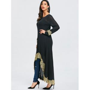 Embroidered High Low Maxi Tee -