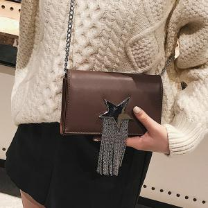 Chain Star Crossbody Bag with Fringes -