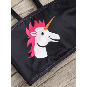 Cute Unicorn Bandeau Thong Bikini -