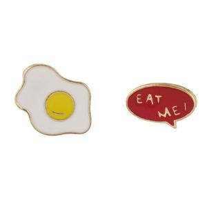 Fried Egg Chain Collar Brooch -