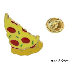 Pizza Slice Shaped Pin Brooch -