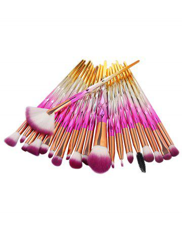 Fancy Professional 20Pcs Zircon Pattern Fiber Hair Makeup Brush Set