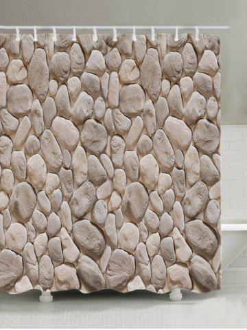 Buy Rock Stone Print Fabric Shower Curtain