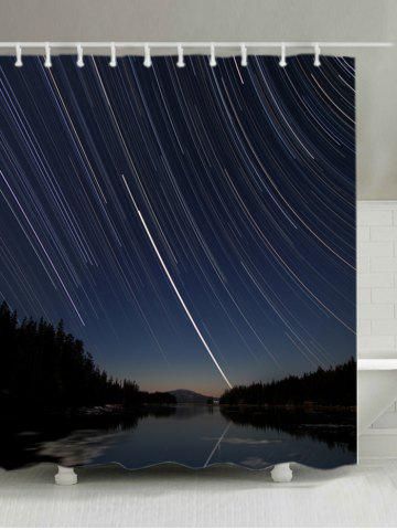 New Vortex Shooting Star Print Fabric Shower Curtain