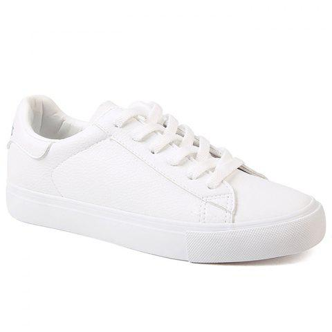 Sale Faux Leather Skate Shoes