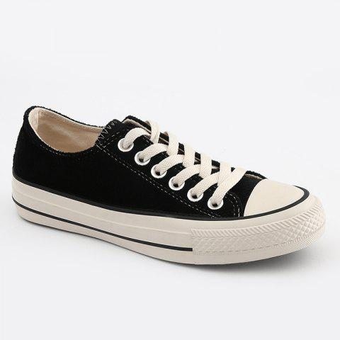 Affordable Stitching Lace Up Sneakers