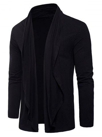 Unique Long Sleeve Open Front Cardigan T-shirt
