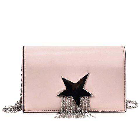 Unique Chain Star Crossbody Bag with Fringes