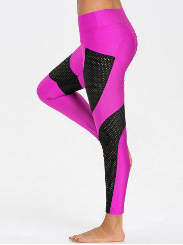 Hot Sheer Workout Leggings with Mesh Panel