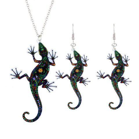Cheap Statement Lizard Necklace with Earring Set