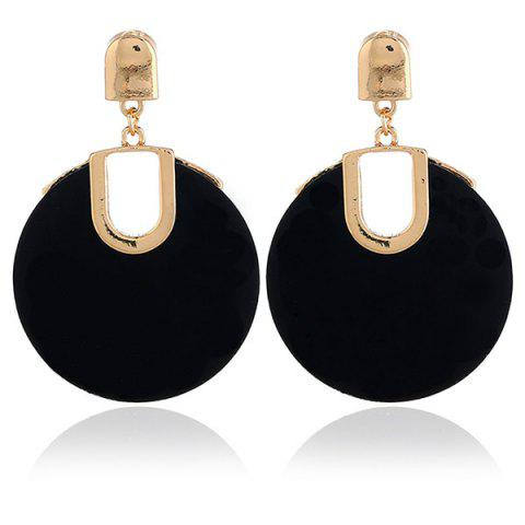 Online Retro Hollow Out Circle Shape Stud Drop Earrings