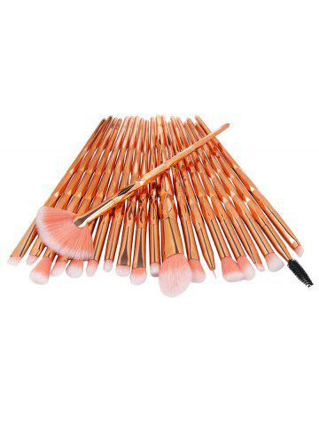 Professional 20Pcs Zircon Pattern Fiber Hair Makeup Brush Set