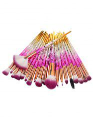 Professional 20Pcs Zircon Pattern Fiber Hair Makeup Brush Set -