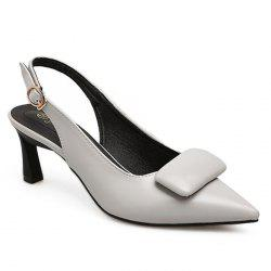 Upper Padded Slingback Pumps -