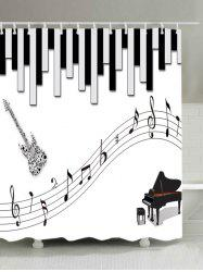 Musical Instrument Print Waterproof Bathroom Shower Curtain -