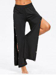 Snap Button Up Casual Pants -