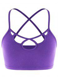Cut Out Strappy Criss Cross Cami  Top -
