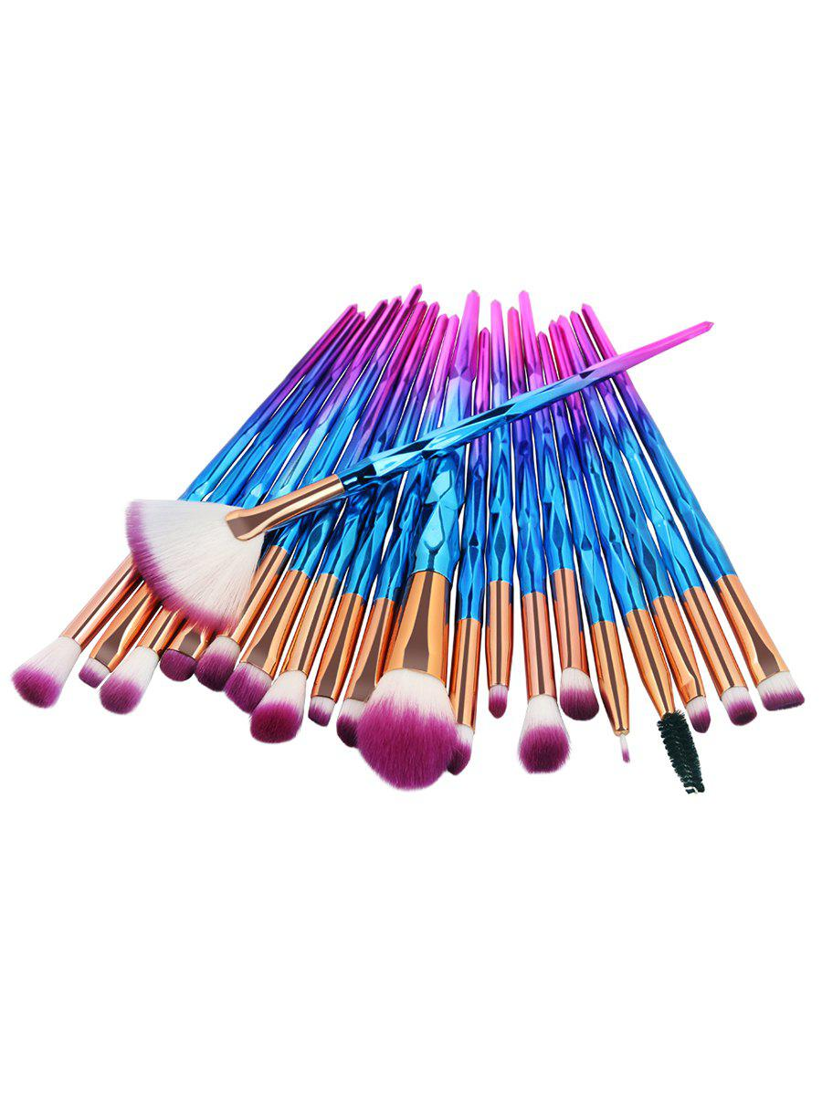 Online Professional 20Pcs Zircon Pattern Fiber Hair Makeup Brush Set