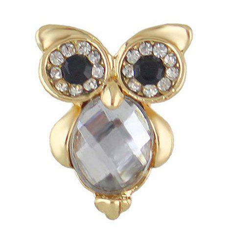 Сова Shaped Faux Crystal Rhinestones Pin Brooch