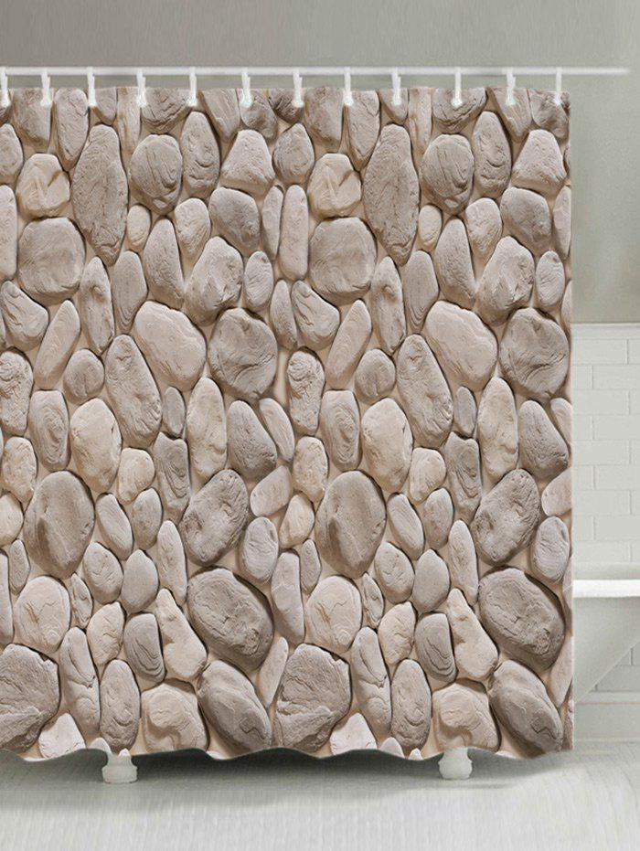 Best Rock Stone Print Fabric Shower Curtain