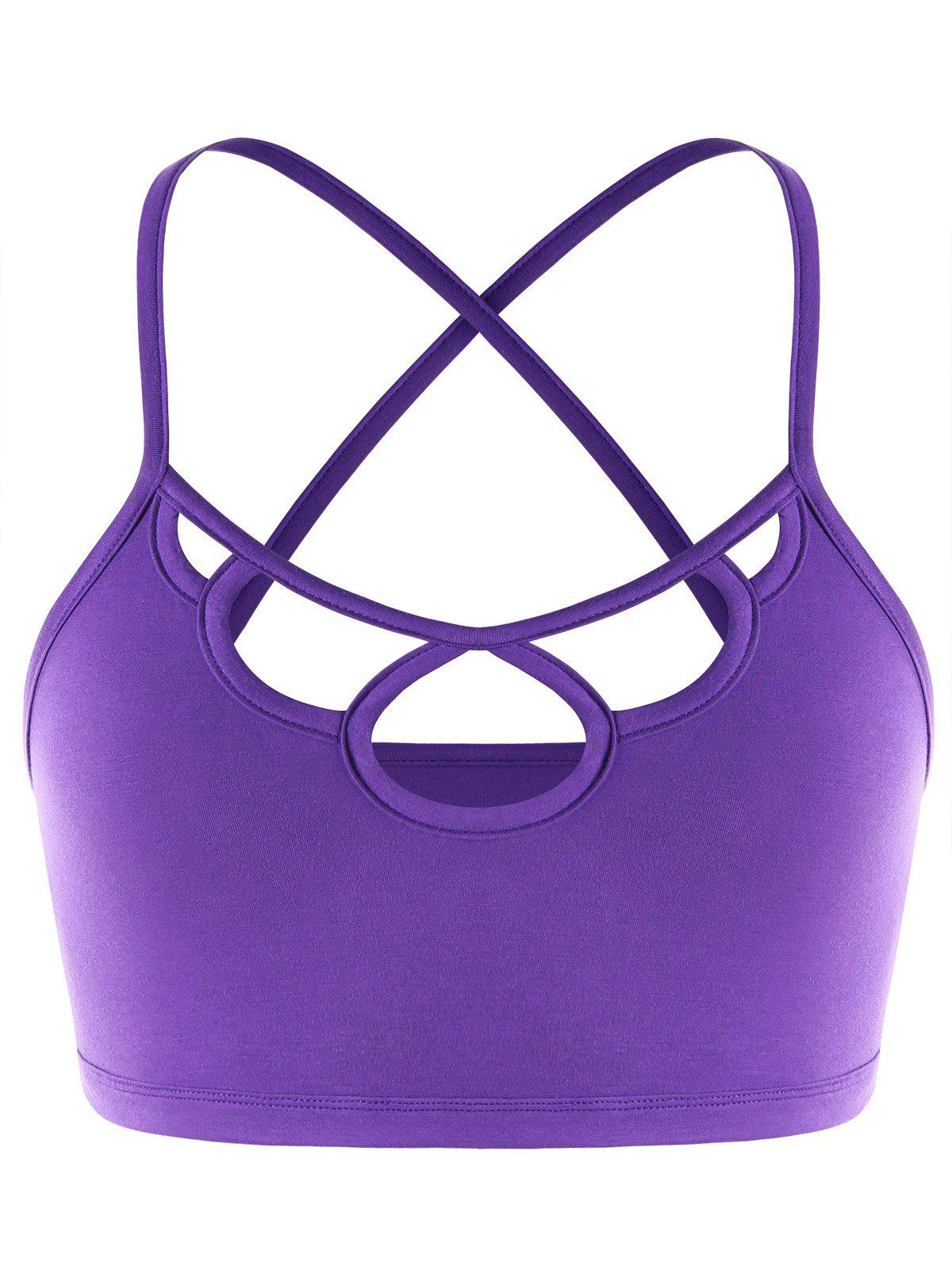 Store Cut Out Strappy Criss Cross Cami  Top