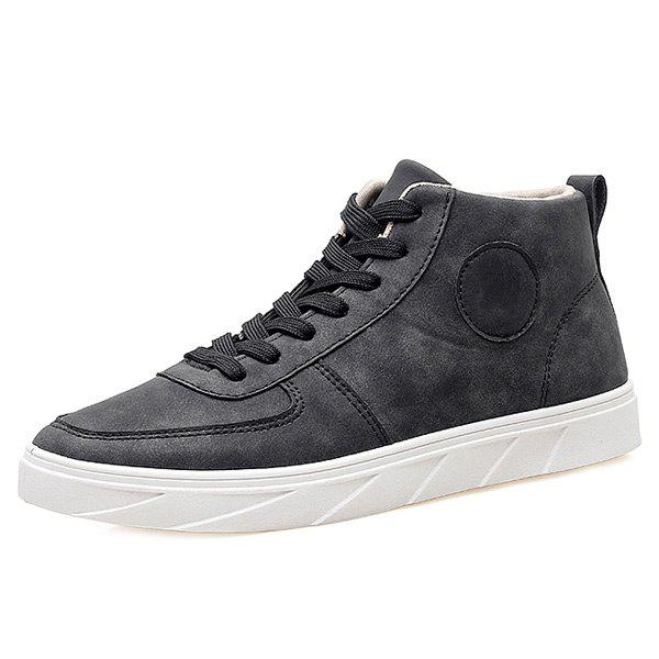 Best Fashionable PU Leather and Tie Up Design Casual Shoes For Men