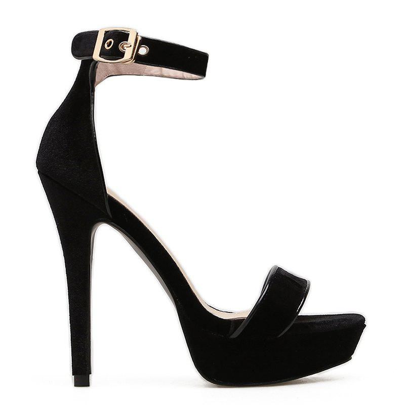 Sale Party Velvet Ankle Strap Sandals