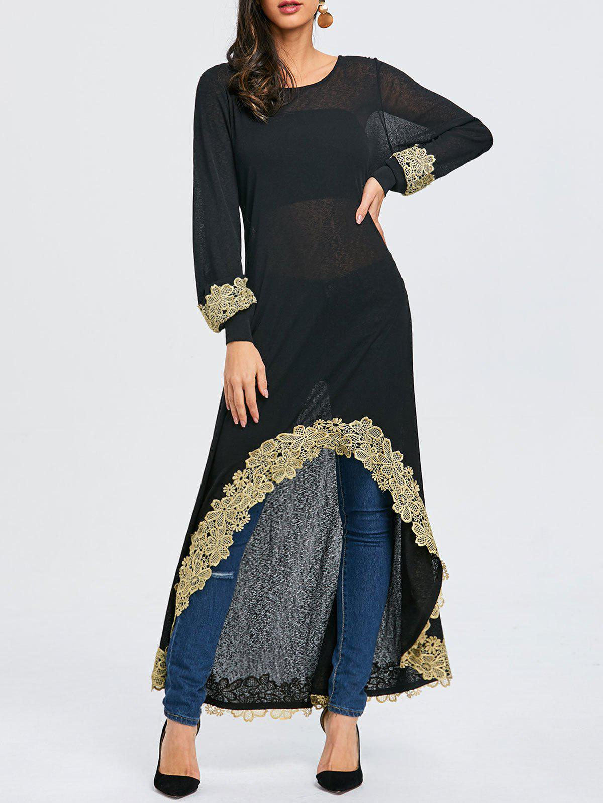 Buy Embroidered High Low Maxi Tee