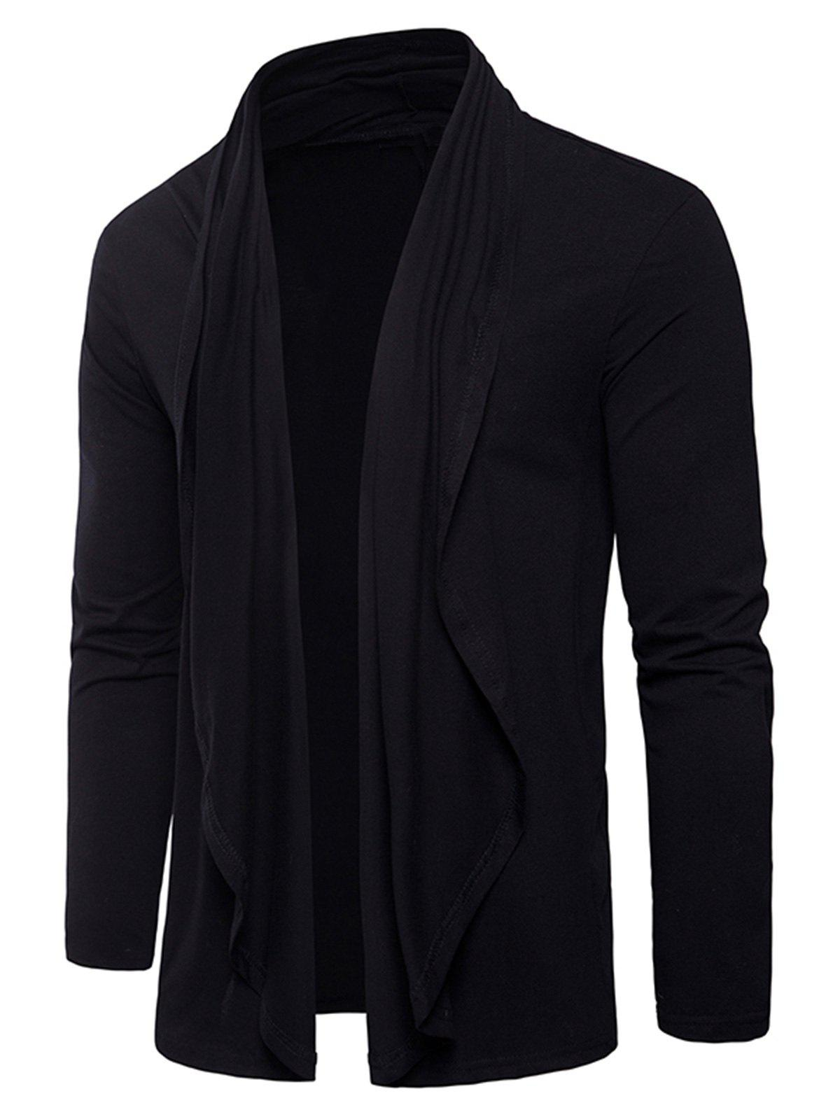 Discount Long Sleeve Open Front Cardigan T-shirt